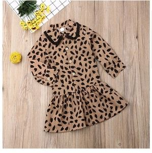 Other - Toddler Kids Baby Girl Party Dresses Chiffon Leopa